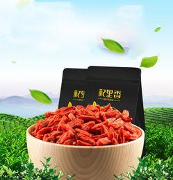 Wholesale 500g Goji Berries King of Zhongning Chinese brand natural wolfberry herbal tea HT