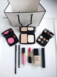 Wholesale CC High Quality Eye Shadow Eyeliner Mascara Lipstick Lip Gloss Blush Foundation Pieces makeup set