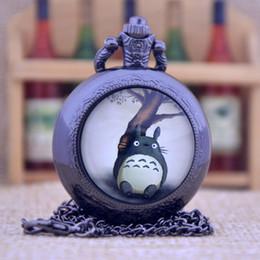 Wholesale New Arrivals My Neighbor Totoro Japanese animated film movie Dome Design Quartz Pocket Watch Necklace Men Women Pocket Fob Watch