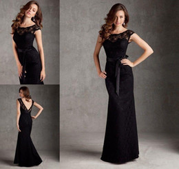 Wholesale New black lace Long mermaid Modern sexy fashion decals formal evening dress party dress bridesmaid dresses