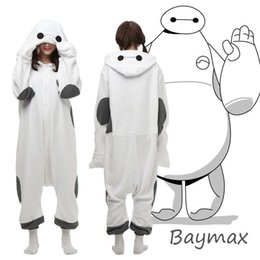 Wholesale Hot Big Hero Baymax Onesie Kigurumi cosplay Costume Hoody Pajamas Sleepwear Size S M L XL