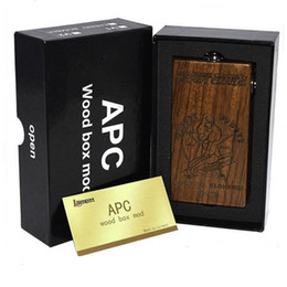 Wholesale Huge Vapor APC V2 MOD Wood Box Mod fit for Battery Vaporizer E Cigarette Fit RDA Atomizer VS IPV Luxyoun Smaug