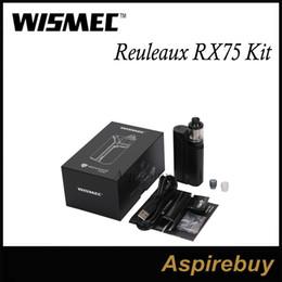Wismec Reuleaux RX75 Kit 75W Box Mod with 2ML Amor Mini Tank VW Bypass TC-Ni TC-Ti TC-SS TCR Mode 1 18650 New VWT420 Green Cyan 100% Genius