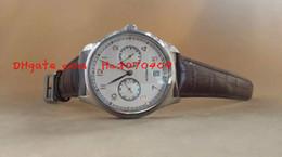 Descuento esfera blanca para hombre de los relojes automáticos Calidad superior de lujo AAA Sapphire portuguesa 7 Día 7Day 500.114 esfera blanca reloj de pulsera para hombre del reloj automático