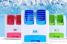 Wholesale USB Mini portable air conditioning fan small fan rechargeable students small office desktop without leaves refrigeration