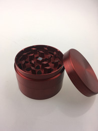 Metal Herb Grinder 4 layers 60mm Diameter Red Color Spice Pollen Mini Hand Grinder free shipping