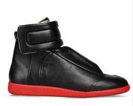 Wholesale 2016 high Quality Maison Martin Margiela Casual Shoes Lace Up Flats Men Genuine Leather Leisure Flat Shoes fashion tenis shoes