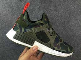 Wholesale Camo Golf Shoes - 2016 new Mens Womens nmd runnder pk r1 running foams shoes NMD race runner sneakers iin Camo,White,Black top quality free shipping
