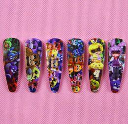 Acheter en ligne Fille accessoires pour cheveux clips-Joli bébé Cinq nuits à épingles à cheveux accessoires cheveux dessin animé filles clips enfants princesse FNAF les barrettes de Freddy