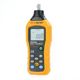 Wholesale PEAKMETER MS6208B Non Contact LCD Display Digital Tachometer Gauge Test Meter Contas De Rpm Air Flow Speedometer H11871