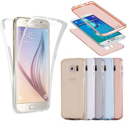 Wholesale Ultra Thin in1 Clear Soft TPU Front Case Shockproof Back Case Degree Full body Protect Cover for Iphone s plus plus Samsung S7