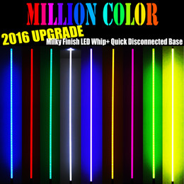 Addmotor Orcas 2016 New Design Generation Antenna LED Light Whip + Flag Fit For ATV UTV Off Road Sand Dunes LED Lighted 4FT Multicolor Whip