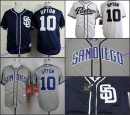 Cheap Justin Upton Jersey , #10 Justin Upton White Grey Blue Cool Base Shirt Stitched Baseball Jersey Cheap