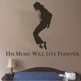 new for Michael Jackson wall sticker for kids room bedroom on the wall indoor decoration removable Free shipping