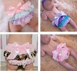 2016 New Baby Girl Europe and America Shorts Bow Lace PP Shorts Satin Summer PP Shorts Baby Clothing 0-3T 263