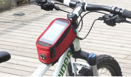 Wholesale HOT Roswheel Bike Bicycle Frame Front Tube Bag Transparent PVC with FREE Audio Extension Line for Cellphone