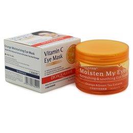 Wholesale asks people BIOAQUA Orange Eye Mask Refreshing amp Soothing Skin Care Moisturizing Anti wrinkle Anti aging Remove Dark Circle Eye