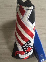 Wholesale CUSTOM National flag FISH golf putter headcover great PU leather covers top quality golf head covers colors