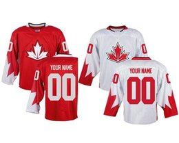 Wholesale Mens Custom Team Canada World Cup of Hockey Olympics Game Red Jerseys Mix Order Accept