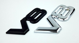 High Quality 10pcs lot Wholesale 3D Metal V8 Emblems badge stickers for Audi  VW   JEEP Ford bumper stickers car-styling