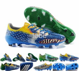 Wholesale 201 Messi Pibe De Barr10 Turf White Granite Scarlet Dragon Animal Football Shoes f50 soccer shoes Cuteira size