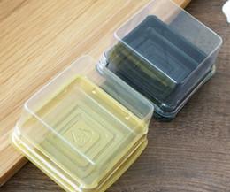 1000sets lot, Plastic Cake Box Single Individual Cake Boxes Bottom Plastic Mooncake Pvc Boxes Food Gift Packaging,5.5*5.5*3.8