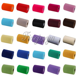 """Wholesale Chairs Lights - Tulle Roll Spool 6""""x100Yards For Wedding Party Celebration Tutu Skirt Chair Sash Wedding Decortaion DIY Fabric Wholesales"""