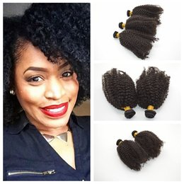 35g pcs Cheap Price! Unprocessed Brazilian Hair 8-30inches kinky curly Hair Weave Full Head Human Extensions G-EASY