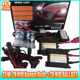 Wholesale HID head light V W W H1 AUTO Hid xenon lamp And Ballast K Hid xenon bulb Set