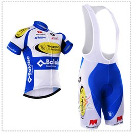2016 TOPSPORT Blue Cycling Jersey Bicycle Breathable Racing Bicycle Clothing Quick-Dry Lycra GEL Pad Race MTB Bike Bib shorts