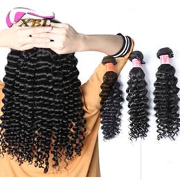 xblhair deep wave human hair extensions virgin peruvian deep wave 3pcs human hair bundles by fedex