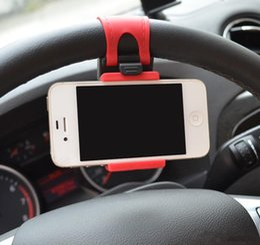 Clip soutien-gorge chaude en Ligne-2017 Hot Sale Universal Car Steering Wheels Supports Support en caoutchouc Bra Clip pour iPhone 6 Plus Samsung Galaxy S5 S6 Note4 Smartphone