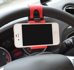 Promotion clip soutien-gorge chaude 2017 Hot Sale Universal Car Steering Wheels Supports Support en caoutchouc Bra Clip pour iPhone 6 Plus Samsung Galaxy S5 S6 Note4 Smartphone