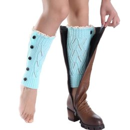 Wholesale-New Design Short Socks Leg Warmers Boot Cover Jun17