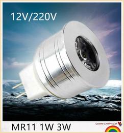 YON New arrivel MR11 1W 3W LED spotlight DC 12V AC 12V AC 220V 35mm diameter mini led bulb lamp for home lighting, free shipping