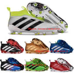 Wholesale ace soccer cleats purecontrol Laceless soccer boots Pure Control Football Shoes Mens Soccer Cleats Boots Cheap high ankle Original cleats