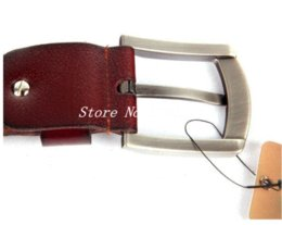 Pin Buckle brand belt brown Belt Men's genuine leather belts Free Shipping Cheap belt metal