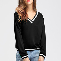 European and American spring and autumn fashion new V collar casual long-sleeved Slim sweater new ladies shirt
