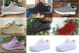 Wholesale 10color DropShipping barato famoso Kanye West Boost Low Moonrock mujeres para hombre unisex de los deportes zapatillas de deporte corrientes atléticos de los zapatos del tamaño