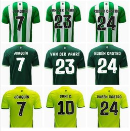 Wholesale Top Thai quality Real Betis home Soccer Jersey Rugby JOAQUIN VAN DER VAART RUBEN CASTRO away Football Shirts Camiseta de futbol