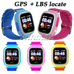 Wholesale Xmas Gift Q90 Baby Smart Watch GPS tracker For Kids Touch Screen Smartwatch Anti Lost Better than Q80 Q60 Q50