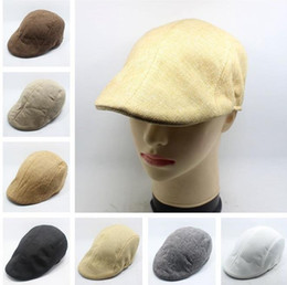 Women Men Retro Cap Peaked Beret Fashion Linen Cotton French Newsboy Visor Golf Driving Flat Cabbie Artist Hat