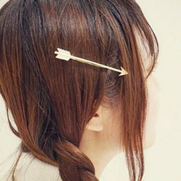 Wholesale New Arrival Fashion Hair Accessary K Gold Plated Arrow Barrettes Hair Clips Hairpins For Women