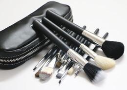 Wholesale Brand Goat Hair MC Makeup brush set blending powder foundation eyebrow cosmetics Make Up contour brush tools with brush bag