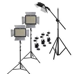 Ensemble d'éclairage studio 3pcs Yongnuo YN600L II 3200-5500K Bi-color 600 LED Vidéo Light Panel + 2m Stand + Boom Arm + sac de transport à partir de conduit vidéo d'éclairage fabricateur