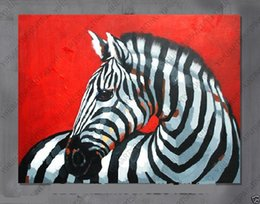 Framed zebra,Pure Hand Painted Asian modern Wall Decor Art Oil Painting On High Quality Canvas. Free Shipping,Multi Sizes Available moore20