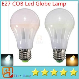 Wholesale New Arrival E27 W W W W Led Bulbs AC V COB Led Globe Lamp Degree Angle CRI gt Warm White Pure White
