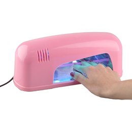 Wholesale 9W Nail Dryer Gel UV Lamp Light Nail Dryer V Quick Dry Lamp EU US UK Plug Machine Gel Polish Art Tools