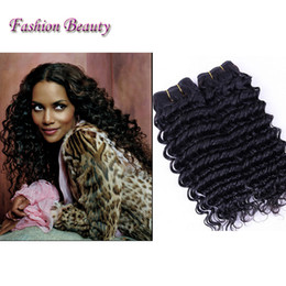 Fashion Beauty Peruvian Hair Full Cuticle 3PC Deep Curly Human Hair Weave dyeable Hair Products