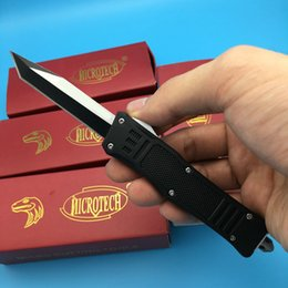 Wholesale Microtech Single Blade Styles three color Cutting Tool troodon Scarab camping ourdoor survival knife knives
